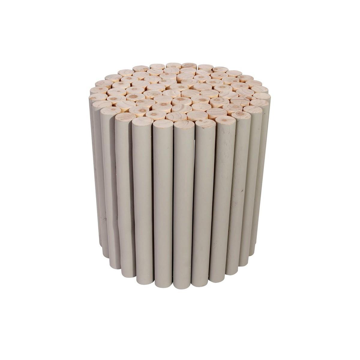 Rondin De Bois Table De Chevet table d'appoint ronde en rondins de bois arctique
