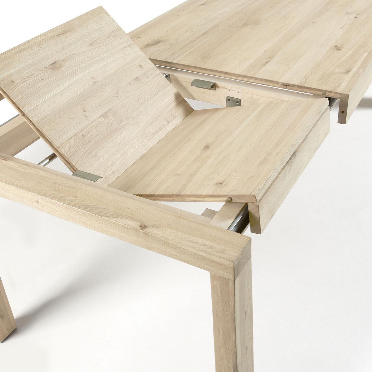 Table En Bois Chene Clair table extensible finition chêne blanchi ase