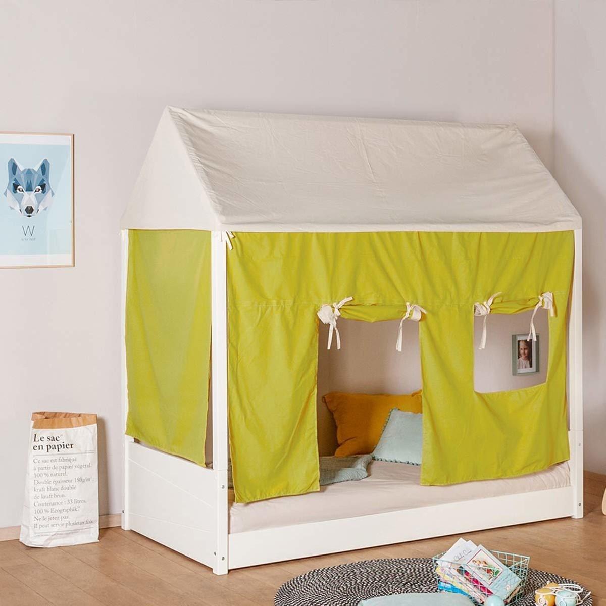 Fabriquer Lit Cabane Montessori lit cabane évolutif en bois massif celeste