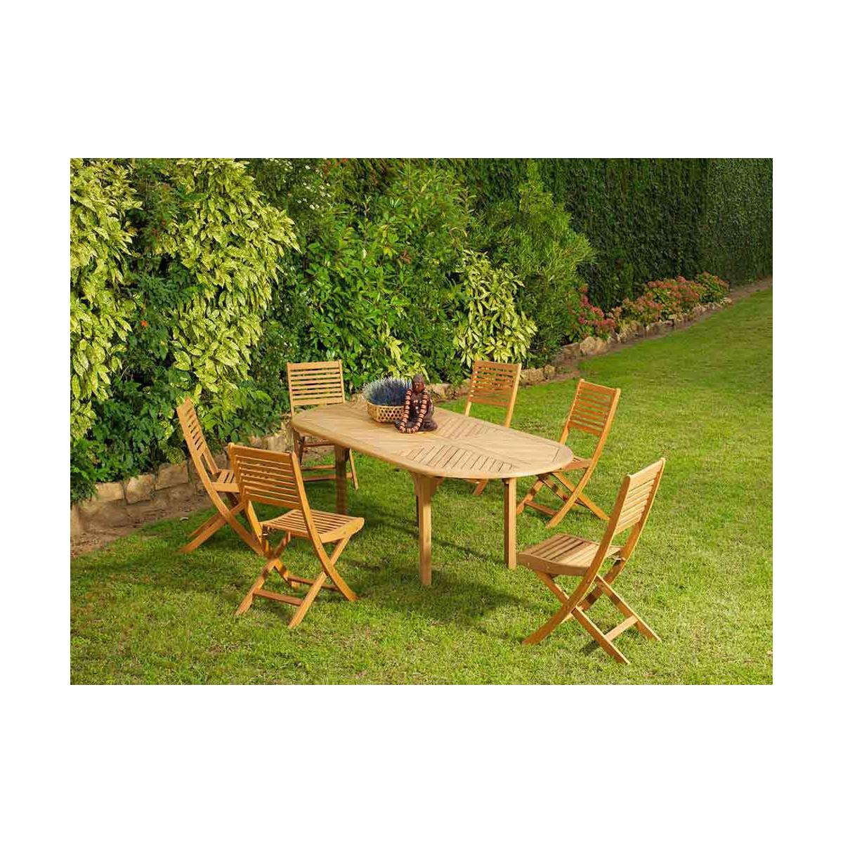 Chaise de jardin pliante en bois massif Venus