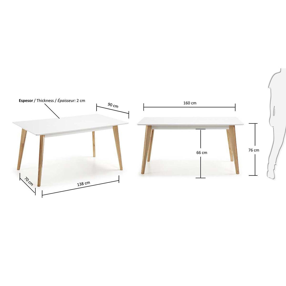 Table A Manger Scandinave Snow Design Et Chic