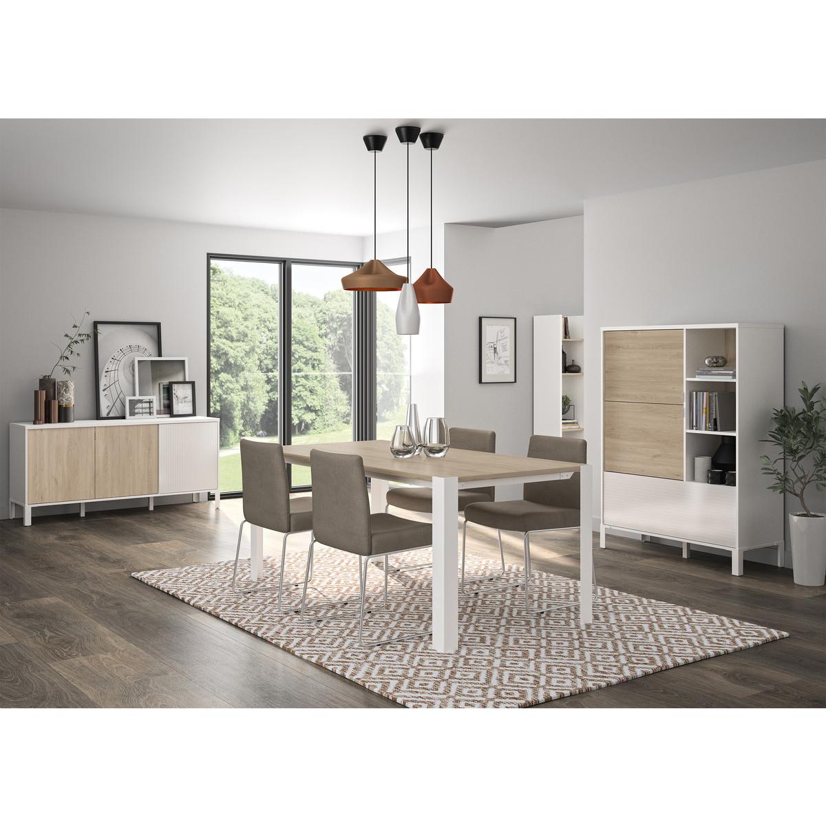 buffet haut scandinave avec rangements polka. Black Bedroom Furniture Sets. Home Design Ideas