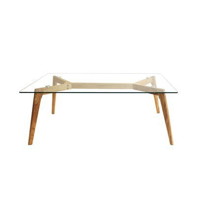 Table basse rectangulaire en verre Liv