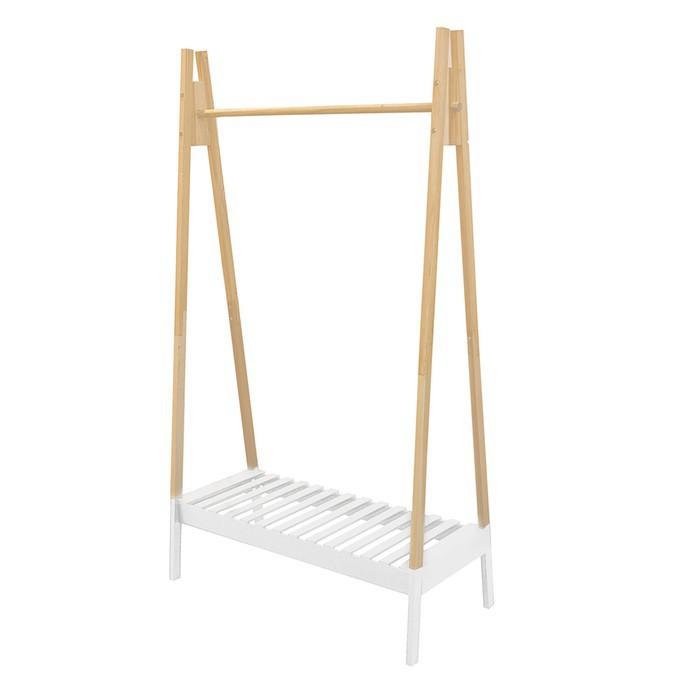 portant v tement en bois massif java. Black Bedroom Furniture Sets. Home Design Ideas