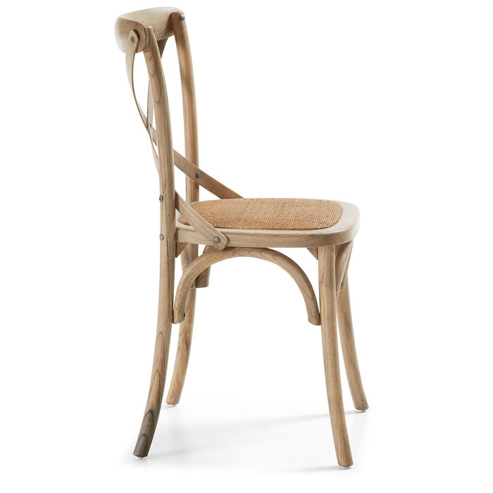 assise rotin chaise bistrot en bois wood blanc