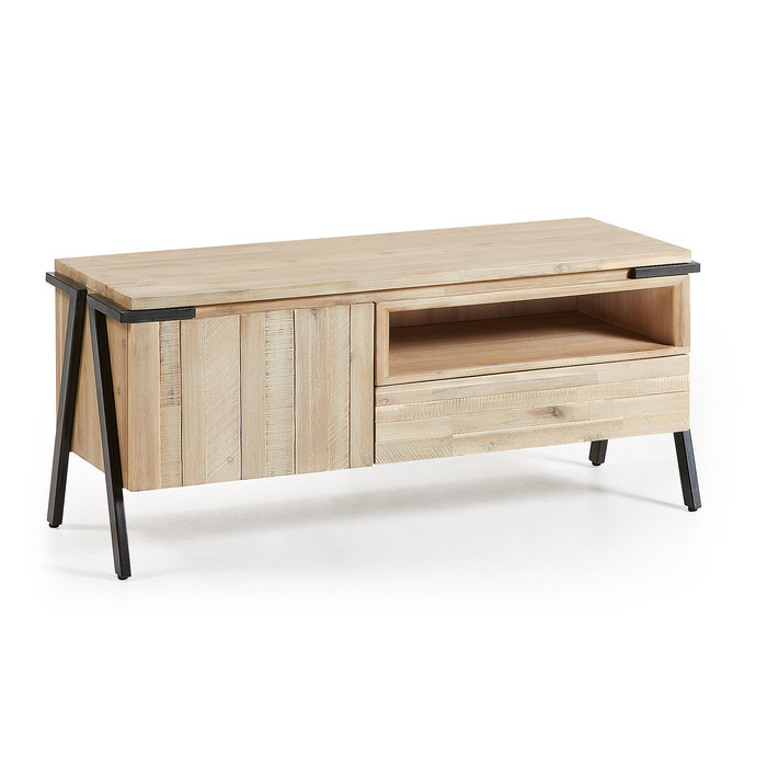 meuble tv industriel bois et metal collection jaro
