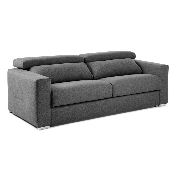canape lit inclinable en tissu gris anthracite luxury