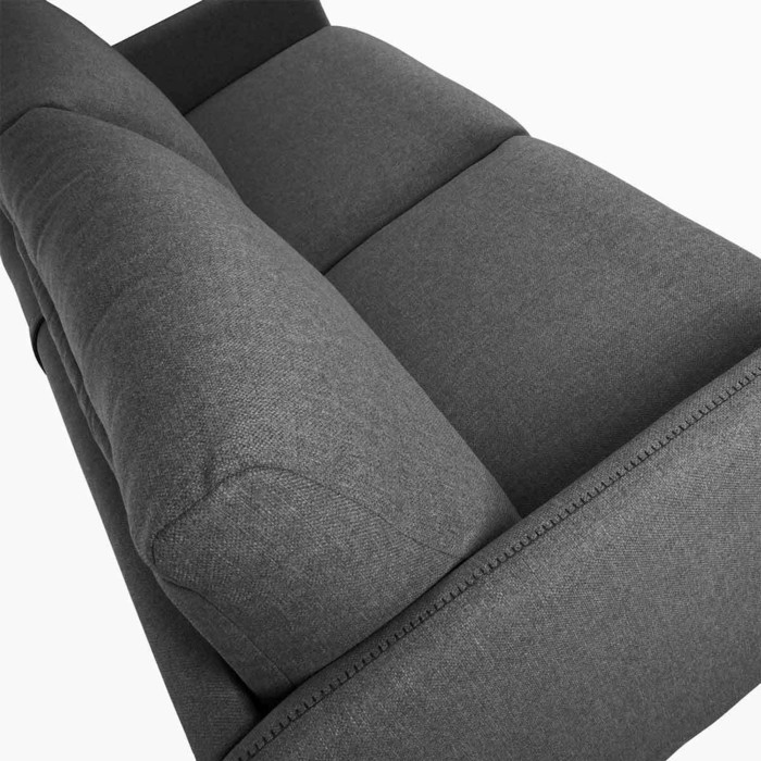 canape lit convertible en tissu coloris gris anthracite Conor detail accourdoirs
