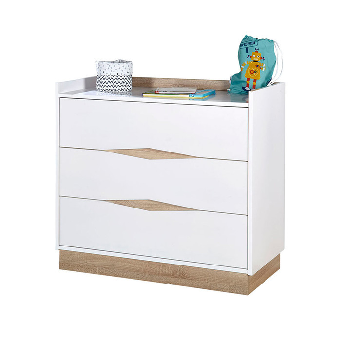 commode blanc bois scandinave jade