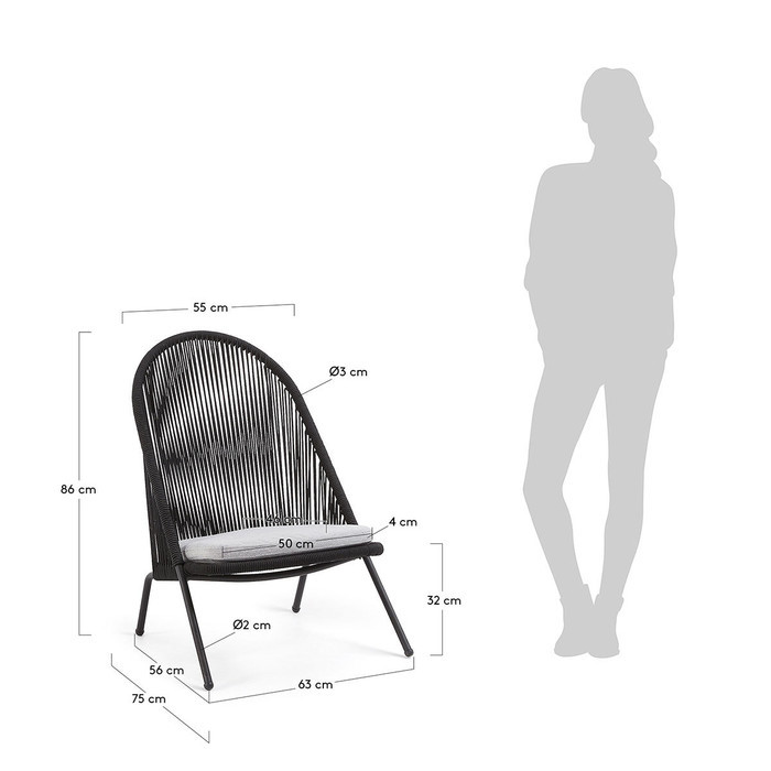 Dimensions Fauteuil Gaia