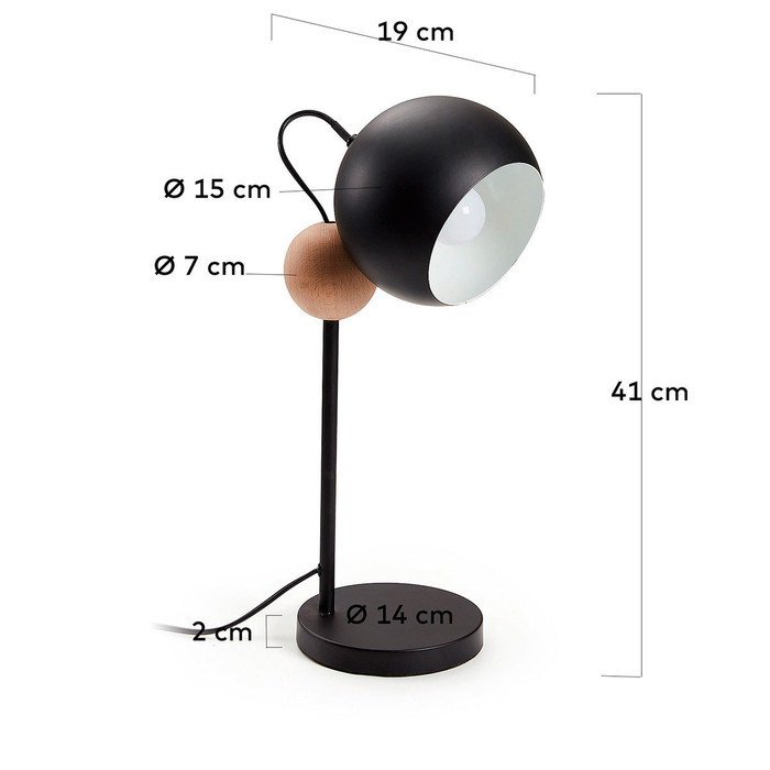 Dimensions Lampe Yvoni