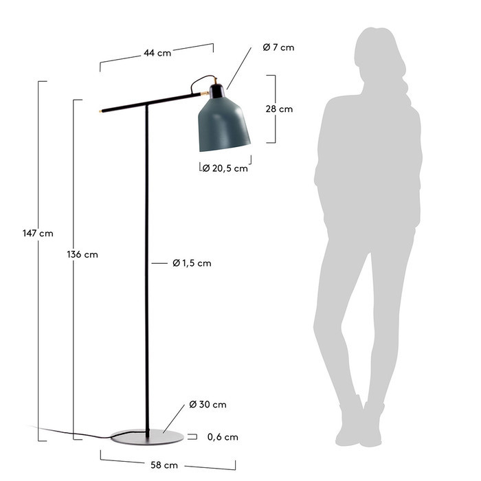 Dimensions Lampadaire Cleo