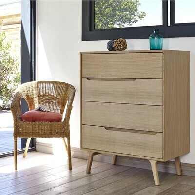 Commode 4 tiroirs Livie