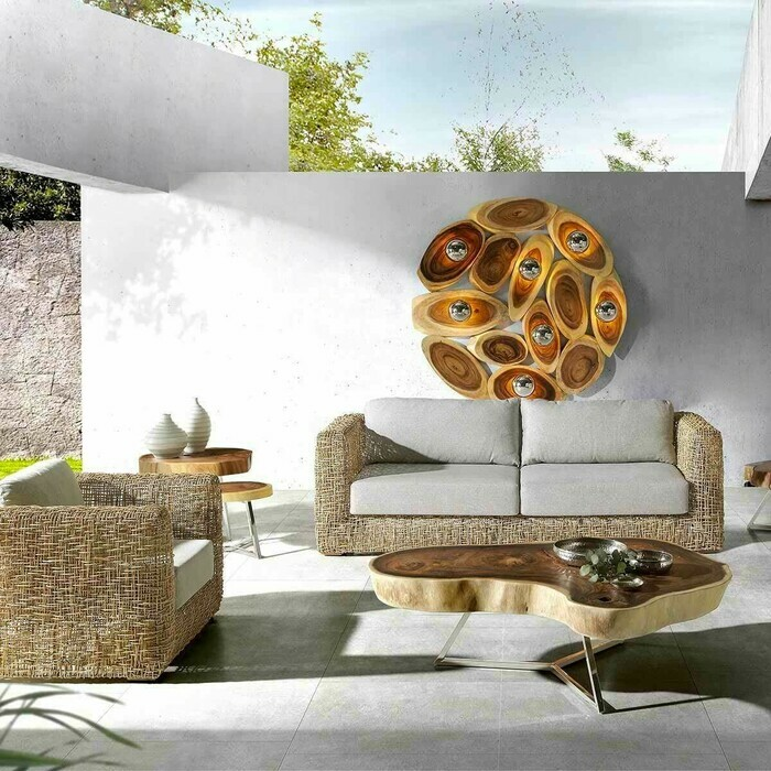 Fauteuil Jungle 1 place en rotin naturel